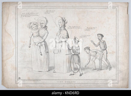 Dry Nurses MET DP868303 736619 Artist: John Doyle, Irish, Dublin 1797?1868 London, Publisher: Thomas McLean, British, - Stock Photo