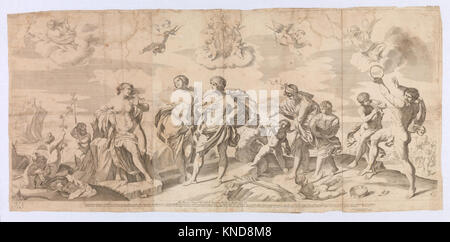 Bacchus with his companions discovering Ariadne on the island of Naxos, after Reni MET DP-12571-001 670158 - Stock Photo
