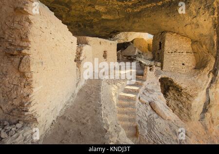 Gila Cliff Dwellings National Monument. - Stock Photo