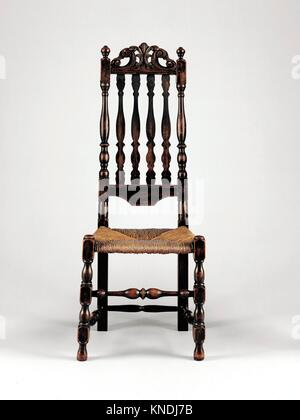 Side Chair. Date: 1700-1730; Geography: Made in Massachusetts, United States; Culture: American; Medium: Maple, - Stock Photo