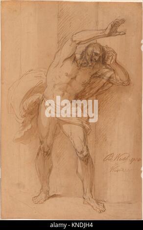 Study for the Crucifixion. Artist: Benjamin West (American, Swarthmore, Pennsylvania 1738-1820 London); Date: 1788; - Stock Photo