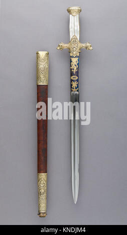 Hunting Sword of Prince Camillo Borghese (1775-1832). Maker: François Pirmet (French, Paris, recorded 1779-1818); - Stock Photo