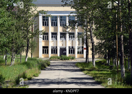 The Dalstroi hospital in Debin where writer Varlam Shalamov worked between 1946 and 1951. He spent 17 years in the - Stock Photo