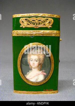 Souvenir. Artist: Miniature by C. De Roy; Date: 1773-74; Culture: French; Medium: Gold, ivory; Dimensions: 3 3/8 - Stock Photo