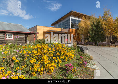 Morris Thompson Cultural & Visitors Center in Fairbanks, Alaska, USA - Stock Photo