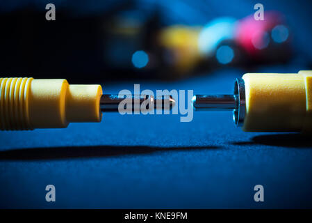 Cables for audio and video communication - Stock Photo