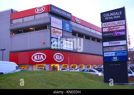 Kia Car Dealership in Colindale, Edgeware, London, England, United Kingdom - Stock Photo