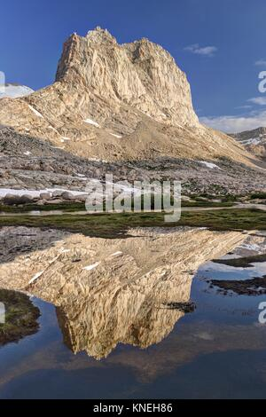 Reflections in Miter Basin, Sequoia National Park, California, America, USA - Stock Photo