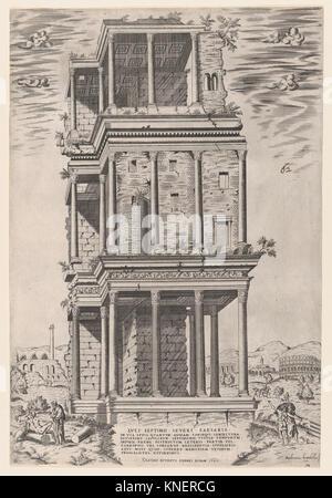 Speculum Romanae Magnificentiae: The Septizodium. Series/Portfolio: Speculum Romae Magnificentiae; Artist: Giovanni - Stock Photo
