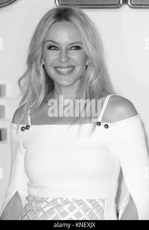 LONDON - SEP 18, 2017: Kylie Minogue attends the Kingsman: The Golden Circle World Premiere at Odeon Leicester Square - Stock Photo