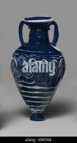 Glass amphoriskos (perfume bottle). Period: Classical; Date: 5th-early 4th century B.C; Culture: Greek, Eastern - Stock Photo
