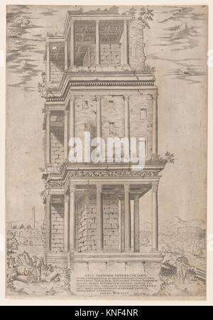 Speculum Romanae Magnificentiae: The Septizodium. Series/Portfolio: Speculum Romae Magnificentiae; Artist: Anonymous; - Stock Photo