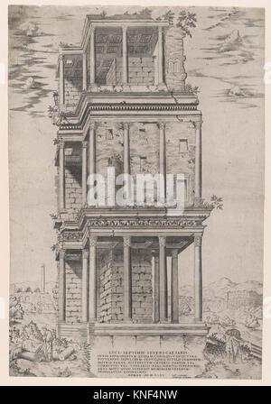 The Septizodium. Series/Portfolio: Speculum Romae Magnificentiae; Artist: Anonymous; Publisher: Antonio Lafreri - Stock Photo
