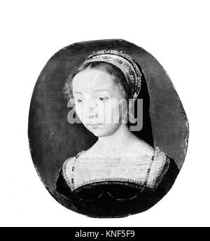 Portrait of a Young Woman. Artist: Attributed to Corneille de Lyon (Netherlandish, The Hague, active by 1533-died - Stock Photo