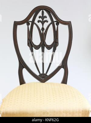 Side Chair. Date: 1770-1800; Geography: Made in United States; Culture: American; Medium: Mahogany; Dimensions: - Stock Photo
