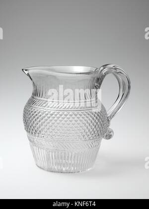Pitcher. Date: 1825-40; Geography: Probably made in Massachusetts, United States; Culture: American; Medium: Blown - Stock Photo
