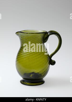 Pitcher. Date: 1815-40; Geography: Probably made in Ohio, United States; Culture: American; Medium: Blown-molded - Stock Photo