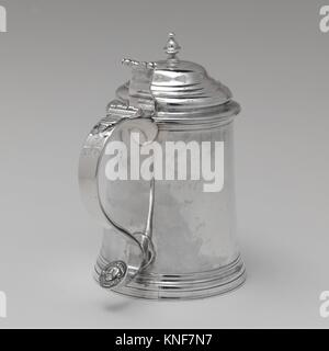Tankard. Maker: Samuel Casey (American, Rhode Island ca. 1723-ca. 1775); Date: 1750-75; Geography: Possibly made - Stock Photo