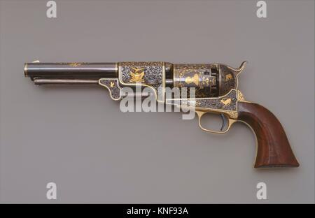 Colt Third Model Dragoon Percussion Revolver, Serial Number 12406. Manufacturer: Samuel Colt (American, Hartford, - Stock Photo