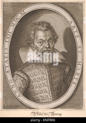 Philip de Mornay. Artist: Léonard Gaultier (French, Mayence 1561-1641 Paris); Date: 17th century; Medium: Engraving; - Stock Photo