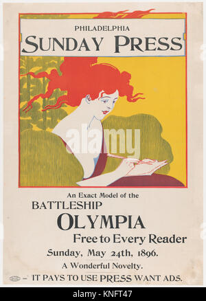 Philadelphia Sunday Press: May 24th. Artist: George Reiter Brill (American, Pittsburgh, Pennsylvania 1867-1918 Florida); - Stock Photo