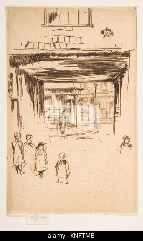 Drury Lane. Series/Portfolio: Second Venice Set (A Set of Twenty-Six Etchings by James A. McN. Whistler, 1886); - Stock Photo