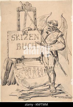 Der Fehlerteufel (Devil of Mistakes). Artist: Gustav Bartsch (German, Gleiwitz (Oberschlesien) ca. 1821-after 1870 - Stock Photo