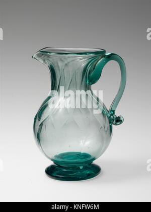 Cream pitcher. Date: 1820-45; Geography: Probably made in Ohio, United States; Culture: American; Medium: Blown, - Stock Photo