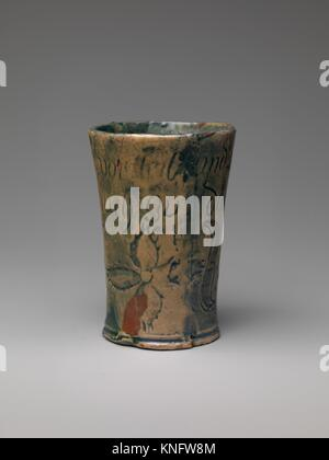 Tumbler. Designer: Henry Chapman Mercer (1856-1930); Manufacturer: Moravian Pottery and Tile Works (founded in 1899); - Stock Photo