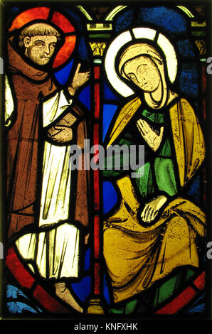 The Virgin from a Pentecost Scene and the Figure of Saint Martin. Date: ca. 1245-48; Geography: Made in Tours, Loire - Stock Photo
