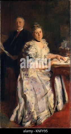 Mr. and Mrs. Anson Phelps Stokes. Artist: Cecilia Beaux (American, Philadelphia, Pennsylvania 1855-1942 Gloucester, - Stock Photo
