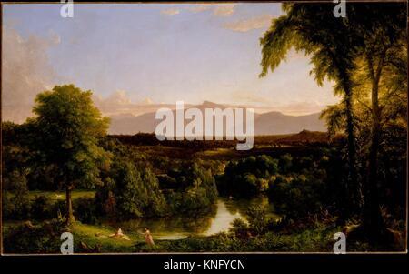 View on the Catskill-Early Autumn. Artist: Thomas Cole (American, Lancashire 1801-1848 Catskill, New York); Date: - Stock Photo