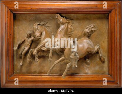 The Horses of Anahita or The Flight of Night. Artist: William Morris Hunt (American, Brattleboro, Vermont 1824-1879 - Stock Photo