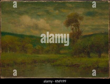 Landscape. Artist: George Inness (American, Newburgh, New York 1825-1894 Bridge of Allan, Scotland); Date: 1884 - Stock Photo