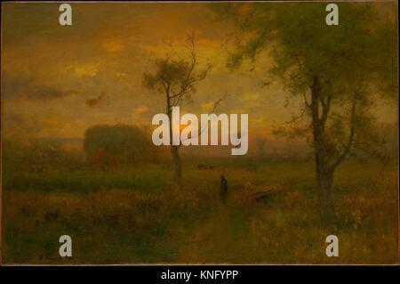 Sunrise. Artist: George Inness (American, Newburgh, New York 1825-1894 Bridge of Allan, Scotland); Date: 1887; Medium: - Stock Photo