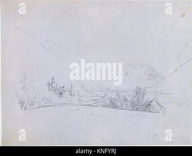 North of the White Mountains. Artist: John Frederick Kensett (American, Cheshire, Connecticut 1816-1872 New York); - Stock Photo