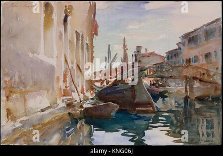 Giudecca. Artist: John Singer Sargent (American, Florence 1856-1925 London); Date: 1913 (?); Medium: Watercolor - Stock Photo