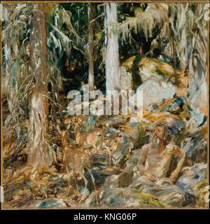 The Hermit (Il solitario). Artist: John Singer Sargent (American, Florence 1856-1925 London); Date: 1908; Medium: - Stock Photo