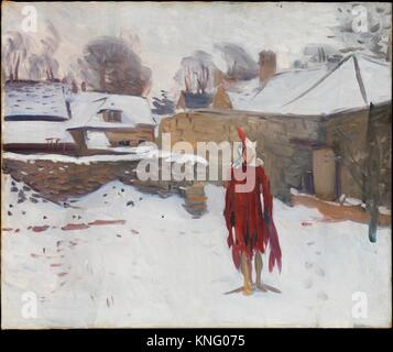 Mannikin in the Snow. Artist: John Singer Sargent (American, Florence 1856-1925 London); Date: ca. 1891-93; Medium: - Stock Photo