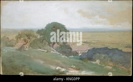 Olive Trees at Tivoli. Artist: George Inness (American, Newburgh, New York 1825-1894 Bridge of Allan, Scotland); - Stock Photo