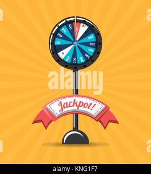 fortune wheel design - Stock Photo