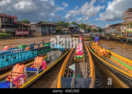 Nyaung Shwe, Inle Lake, Myanmar, Asia - Stock Photo
