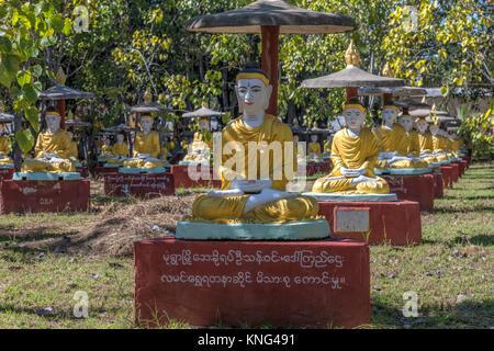Maha Bodhi Tahtaung, Monywa, Sagaing, Myanmar, Asia - Stock Photo