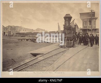 The Lincoln Funeral Train Philadelphia Charles L Philippi April
