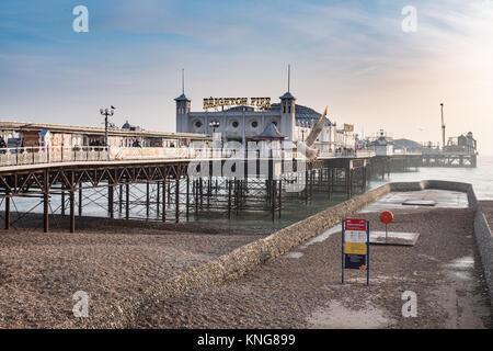 Brighton Pier, Sussex, England, UK. - Stock Photo