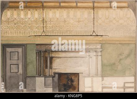 Design for Henry Field Memorial Gallery at the Art Institute of Chicago. Artist: Louis Comfort Tiffany (American, - Stock Photo