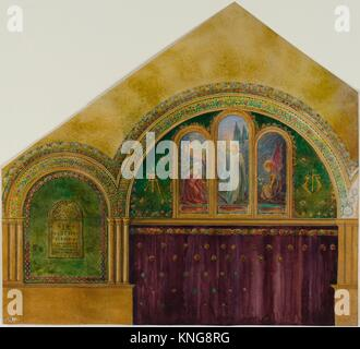 Design for church interior with Noli Me Tangere window. Artist: Louis Comfort Tiffany (American, New York 1848-1933 - Stock Photo