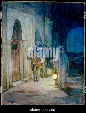 Flight Into Egypt. Artist: Henry Ossawa Tanner (American, Pittsburgh, Pennsylvania 1859-1937 Paris); Date: 1923; - Stock Photo