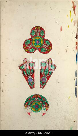 Design for a rose window. Artist: Louis Comfort Tiffany (American, New York 1848-1933 New York); Maker: Possibly - Stock Photo