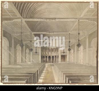 Design for a nave. Artist: Louis Comfort Tiffany (American, New York 1848-1933 New York); Maker: Possibly Tiffany - Stock Photo